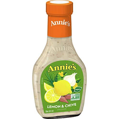 Annie's Natural Lemon & Chive Salad Dressing, Vegan, Non GMO, 8 fl oz