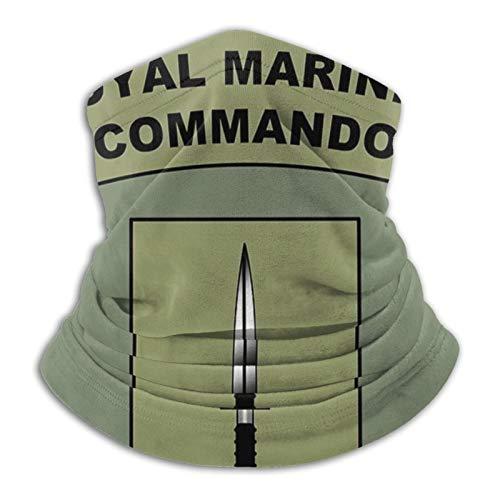 Art Fan-Design - Máscara facial unisex de microfibra Royal Marines Commando Flash Bandana cuello polaina pasamontañas reutilizable transpirable tela escudo bufanda para protección solar UV