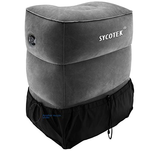 SYCOTEK Inflatable Foot Rest 3 Height Adjustable Foot Pillow for Kids...