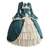RuHan Mujer Vestido de Lolita Kawaii Cuello Cuadrado Bowknot Vestido de Princesa Vestido Medieval Vintage Vestido Gótico Disfraz de Cosplay para Fiesta Carnaval Halloween