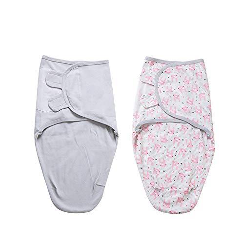 MOMIN-HM Baby-Schlafsack Baby-Schlafsack Kinder Cotton Decken Baby Kids Kleinkind Schlafsack Kinderwagen Wrap Decke for 0-7 Monate Baby für Säuglingskleinkind (Farbe : D3, Größe : M(70X58CM))