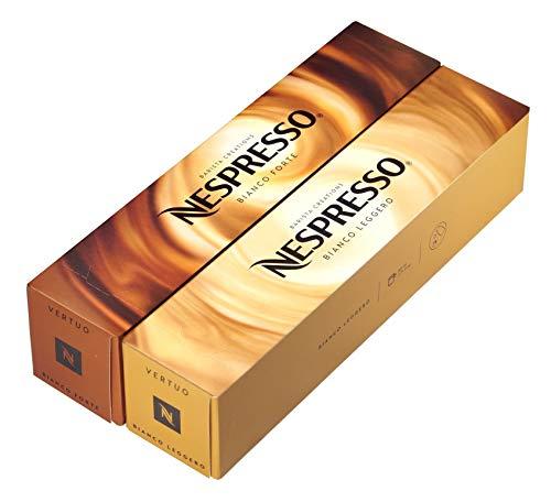 [European Version] Nespresso VertuoLine Barista Creations Variety for Recipes with Milk: Bianco Forte (7.77 ounce), Bianco Leggero (2.7 ounce), 20 Capsules