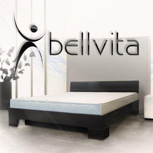 bellvita Wasserbett mit Hochglanz-Bettrahmen schwarz mit Aufbau, 180 cm x 200 cm
