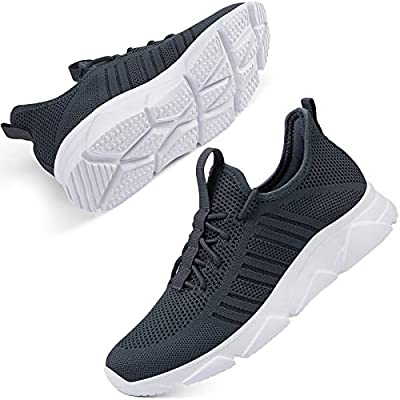 SCICNCN Women Walking Shoes Breathable Mesh Tennis Casual Sneakers Memory Foam Lightweight Running Athletic Shoes