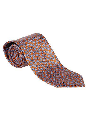 Ermenegildo Zegna Luxury Fashion Herren Z6W01D Orange Seide Krawatte | Jahreszeit Permanent