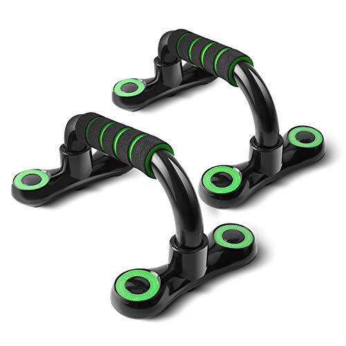 HCFGS Liegestützgriffe, Professional Liegestütze mit rutschfeste, Push Up Bars für Fitness, Gymnastik, Muskeltraining und Krafttraining (grün)