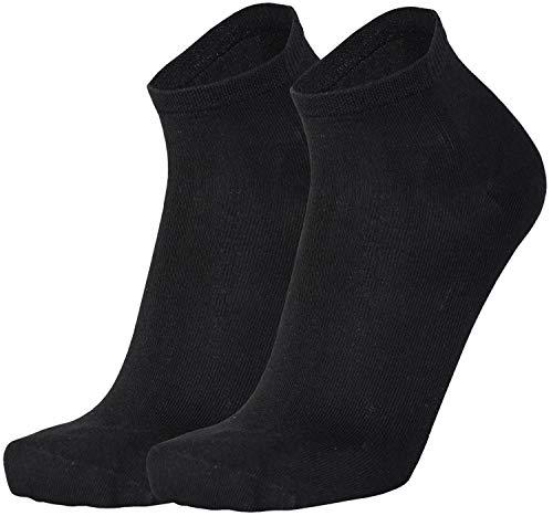 Tobeni 6 Paar Damen Herren Bambussocken Kurz Bambus Quarter Socken Unisex Farbe Schwarz Grösse 39-42