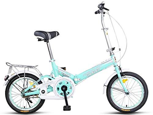FEE-ZC Universal Portable City Bike Single Speed Commuter Bicicleta Fold High Carbon Steel Frame para Adultos Unisex