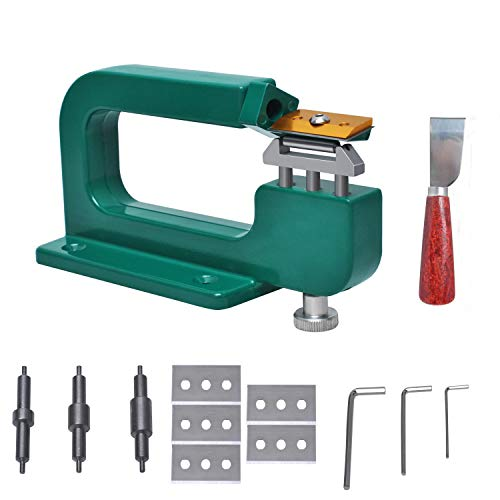 Podoy Leather Splitte Machine Craft Edge Kits Manual Repairing Splitter Skiver Peeler Tool DIY Premium Leather Paring Skiving Machine