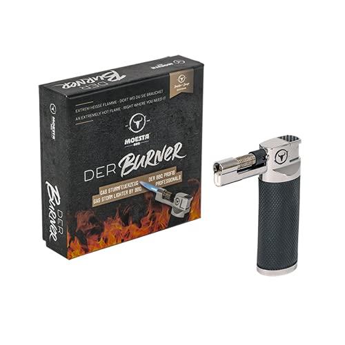 MOESTA BBQ 19226 - Der Burner -Sturmfeuerzeug für große Hitze – Gas-Feuerzeug für Grill, Holzkohle oder Zigarren