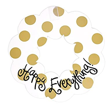 Coton Colors 20W Happy Everything Wooden Wreath - Neutral Dot