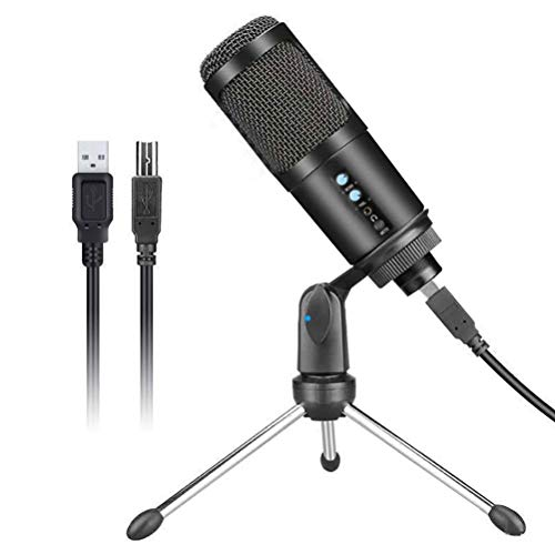 SAMTITY Professional Microphone, USB Microphone Podcast Condenser Microphone with Tripod Stand, Compatible with iMac PC Laptop Desktop Windows Computer