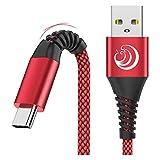 Câble USB C [2M,Lot de 2]-Chargeur Type C Cable 3A Charge Rapide Cordon Solides Nylon Tressé pour...