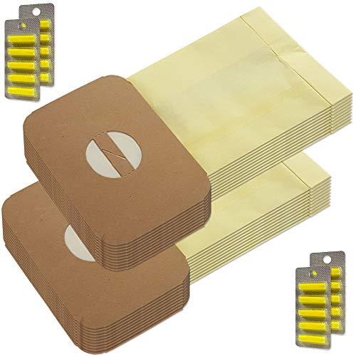 MohMus 20 Bolsas de aspiradora + 20 Ambientadores para Lux Electrolux Z314, Z317, Z318, Z320, Z325, Z340, Z348, Z349, Z356, D710, D711, D713, VZ920, VZ925, Größe E3, Volta U240, 241