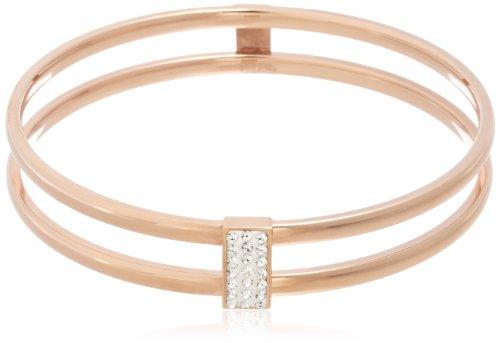 FOLLI FOLLIE - Pulsera Folli Follie mod 3B13T012RC en acero rosa y cristal