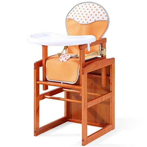 Chaises hautes, sièges et Accessoires Chaise de Salle à Manger pour bébé Table à Manger et chaises pour Enfants en Bois Massif Tabouret pour Enfant à Hauteur réglable en Bois Massif Chaise bébé Coffr
