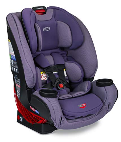 Britax One4Life ClickTight All-in-One Car Seat – 10 Years of Use – Infant, Convertible, Booster – 5 to 120 Pounds - SafeWash Fabric, Plum
