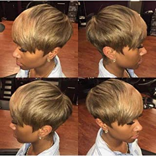 Short Pixie Cuts Hair Wigs for Women GirlsShort Wigs Heat Resistant Synthetic Wigs for Black Women Women's Fashion Full Wi...