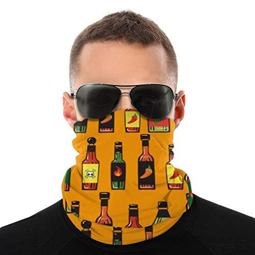 Pasamontañas para salsa caliente con protección para la cara para alimentos y bebidas, pasamontañas, bufanda, bandana, polaina, para exteriores, transpirable, protección UV