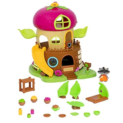Li'l Woodzeez 64701Z - Set da gioco e accessori per bambini, 19 pezzi, con casetta sull'albero, personaggio e accessori