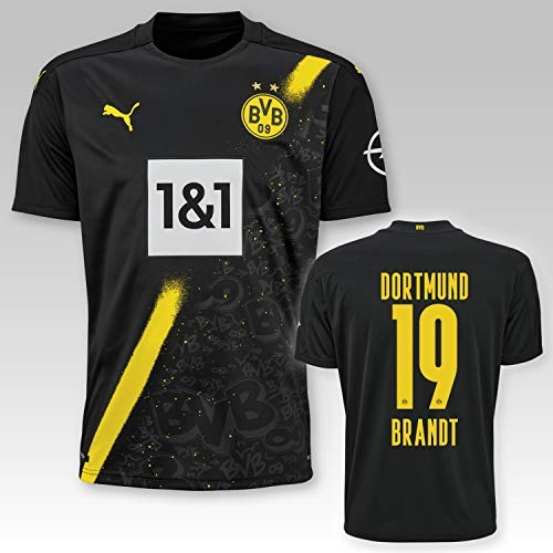 PUMA BVB Auswärtstrikot Kinder Saison 2020/21, Größe:152, Spielername:19 Brandt