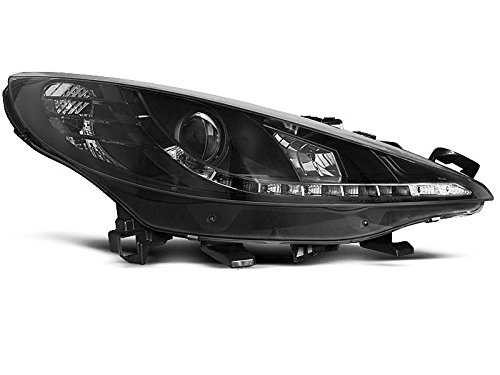 Shop Import par de luz Faros Peugeot 207 06 – 09 Daylight LED Negro (E23)