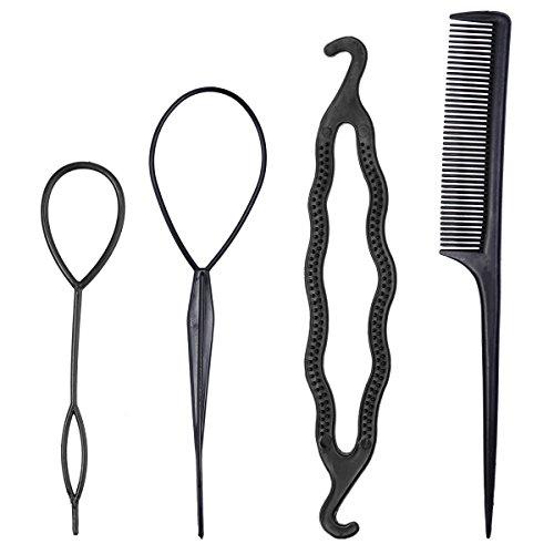 Frcolor Haar Styling Set Frisurenhilfe Haar Twist Haarknoten mit Haarkamm