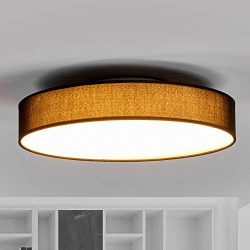 Lindby LED Deckenlampe 'Saira' (Modern) in Schwarz aus Textil u.a. für Wohnzimmer & Esszimmer (1 flammig, A+, inkl. Leuchtmittel) - Deckenleuchte, Lampe, Wohnzimmerlampe