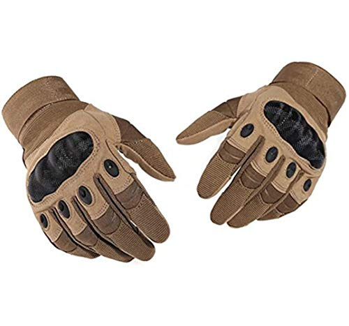 Bonnoeuvre Motorrad Handschuhe Taktische Handschuhe Sommerhandschuhen fürs Motorrad Army Gloves Sporthandschuhe geeignet für Motorräder Skifahren, Militär, Airsoft Bedienen eines Touchscreens (L, 2)