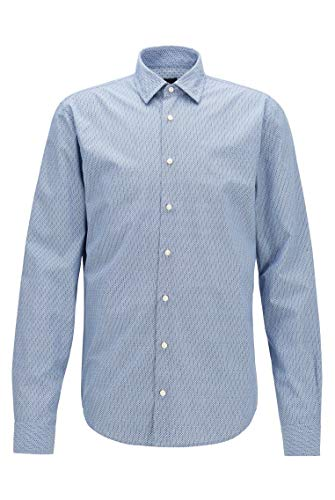 Photo of BOSS Mens Mypop 2 Slim-fit Shirt in Micro-Patterned Cotton