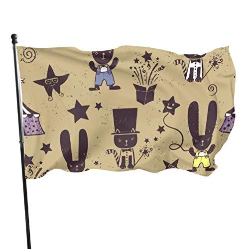 Libros mágicos Gafas Sombrero Calcetines y Botas Bandera Bandera Decorativa Hombres Adultos 3x5 Pies Colores Vibrantes Calidad Poliéster