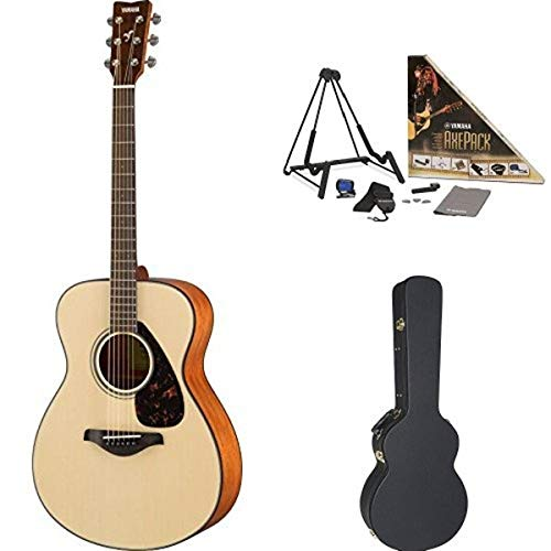 Yamaha FS800 Small Body Acoustic Guitar, Natural, with Yamaha Concert-Size...
