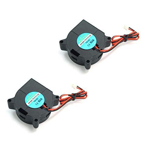 DollaTek 2Pcs ventilador de refrigeración de la impresora 3D DC 12V para disipadores de calor más fríos negro