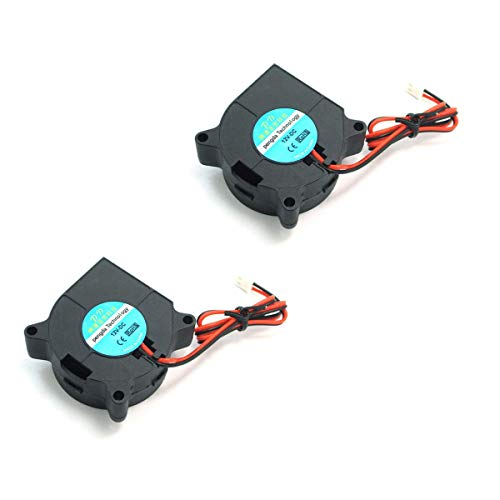 DollaTek 2Pcs Ventola di raffreddamento stampante 3D DC 12V per dissipatori di calore neri
