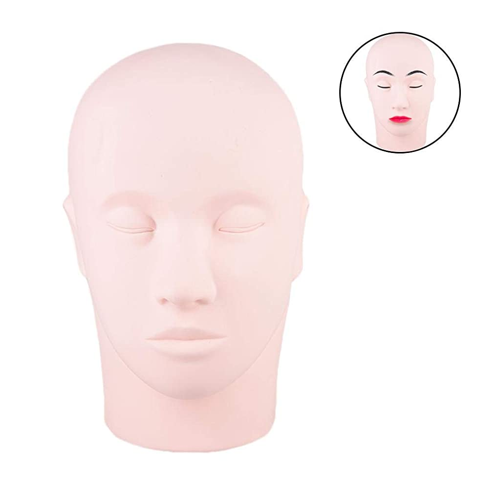 Silicone Mannequin Head Permanent Makeup Training Head Lip Eyebrow Tattoo Fake Practice Skin Wig Head for Practice Acupuncture, Display Hats, Jewelry, Clothe, Sunglasses, Support Wigs