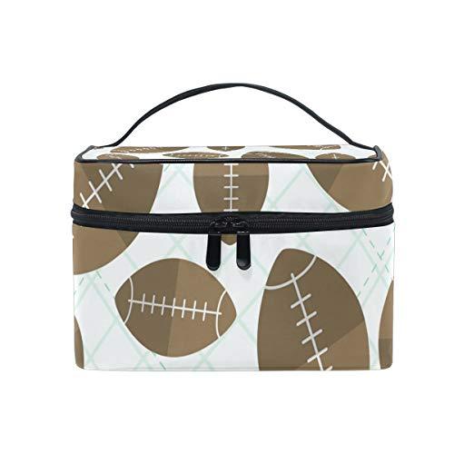 Reisetasche für Make-up, Sport, Rugby-Ball, Muster, Kosmetiktasche, Organizer für Damen, Mädchen, Kulturtasche, tragbare Aufbewahrung, Kosmetiktasche aus Segeltuch
