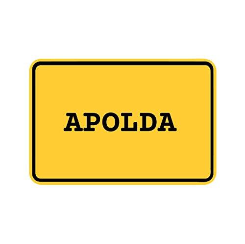 JOllify Aufkleber - APOLDA – Farbe: Design: Ortsschild