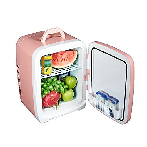 QPMY Refrigerador para Automóvil Pequeño, Mini Refrigerador Silencioso De 15L, Enfriamiento Y Calefacción De Doble Propósito, Asa Superior, Auto Y Hogar Doble Propósito, Mini Refrigerador