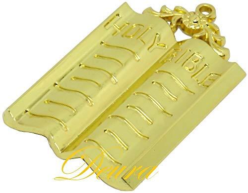 DEURA Masonic Collar Jewel Chaplain Bible Gold Plated Freemason Mason 3'