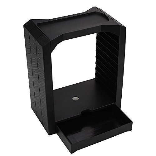 Hanbaili Dischi Dischi Storage Stand Tower With Drawer Per PS4 Playstation 4 Game