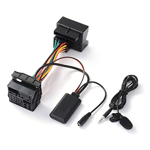 zhuzhu Coche BT 5.0 Adaptador de música Bluetooth con micrófono FIT FOR Ford Mondeo MA2261 * Micrófono Adaptador de Cable Bluetooth