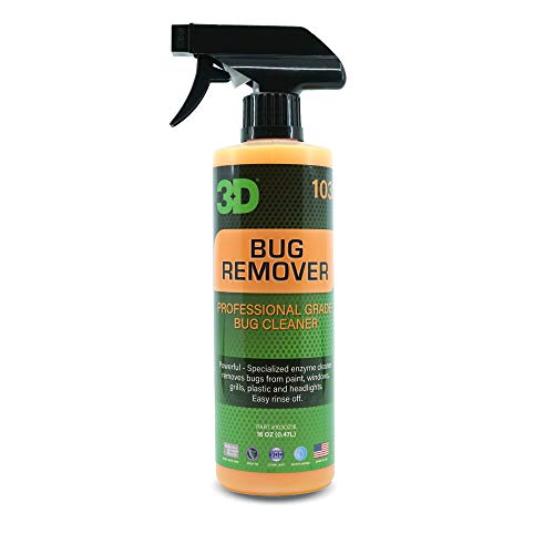 3D Bug Remover - All Purpose Interior & Exterior Cleaner & Degreaser to Remove Insects & Bugs on Plastic, Rubber, Metal, Chrome, Aluminum, Windows & Mirrors, Safe on Car Paint, Wax & Clear Coat 16oz.