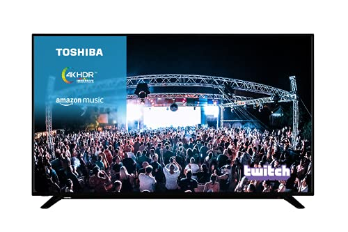 TOSHIBA 65UL2063DB 65-Inch Smart 4K Ultra-HD LED TV with Freeview Play (2020 Model)