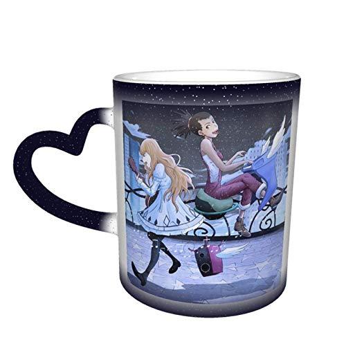 Taza que cambia de color Carole & Tuesday Taza que cambia de color en el cielo Taza de cerámica Taza de café Regalo de cumpleaños de Navidad