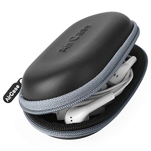 AirCase Earphone Case Pouch Travel Organizer for Earphone, Pen Drives, Memory Card, Data Cable (Grey)