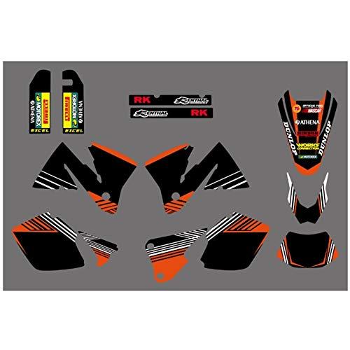 Fahrrad Motocross Aufkleber Abziehbild-Aufkleber-FIT for KTM EXC 250 300 350 400 520 200 300 2001-2002 MXC