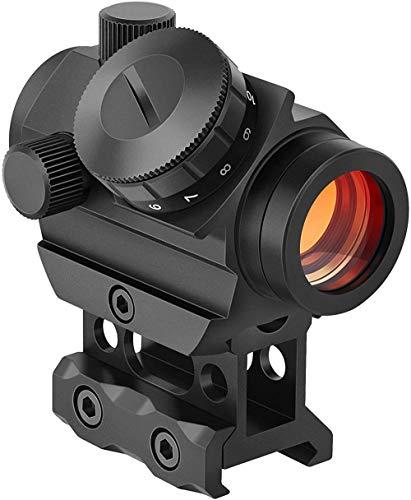 LUXJUMPER Viseur Point Rouge Fusil Portée 3-4 MOA Reflex Optique Tactique avec 1 Pouce Riser Mount pour Rail de Picatinny 20mm Airsoft pour