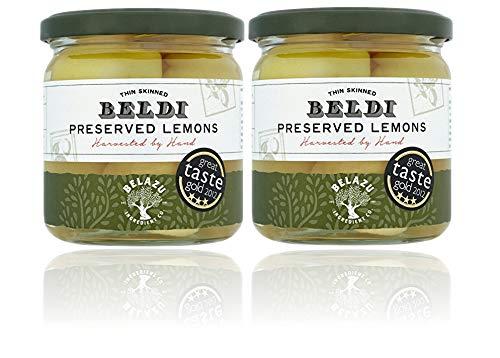Belazu Beldi eingelegten Zitronen (350g) - Packung mit 2