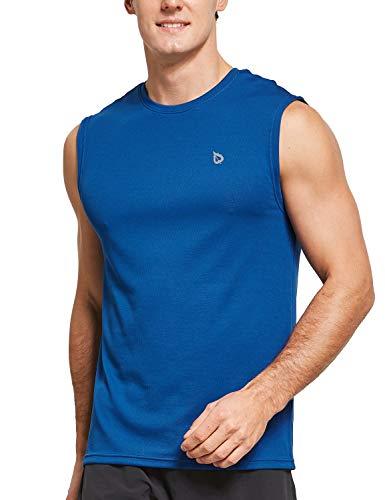 BALEAF Men's Sleeveless Shirts Swim Activewear Basketball Tank Top Blue Size L