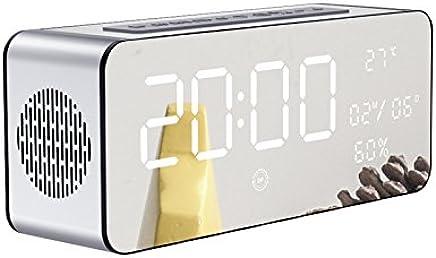Intelligent multi-funzione sveglia mini subwoofer scheda wireless Bluetooth audio di piccole dimensioni argento nero A - Trova i prezzi più bassi